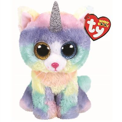 Ty Beanie Boos 36250 Heather The Rainbow Cat With Horn Boo Regular • 7.50£