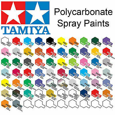 Tamiya PS-1 - PS-63 100ml Polycarbonate/Lexan Spray Paint • 9.75£