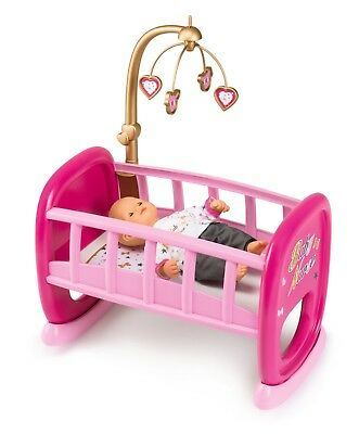 Smoby 220328 Baby Nurse Beautiful Pink Doll Cradle With Cute Mobile • 27£