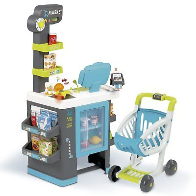 Smoby 350218 Fresh City Market With Trolley Perfect Pretend Play Set • 54£
