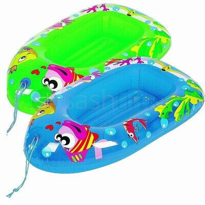 Child Kids Inflatable Pool Dingy Boat Toy Blow Up Float Sea Beach Lounger Swim  • 7.95£