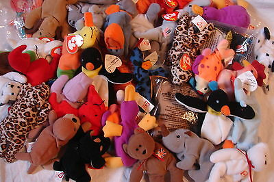 Party Favors! Complete List Of 38 Early Loose McDonalds Teenie Beanies • 5.88£