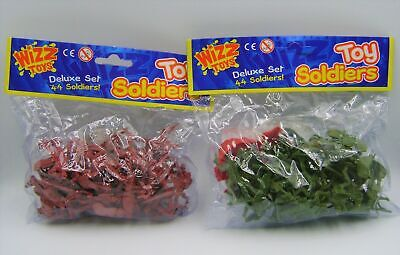 New 44 Toy Soldiers Classic Retro Toys Red Or Green With Flags Pms 037165 • 4.19£