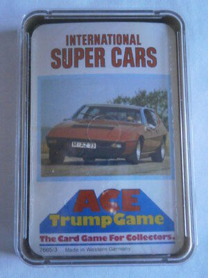 ** Brand New & Sealed ** Vintage ACE Top Trumps Rare -INTERNATIONAL SUPERCARS • 21.99£