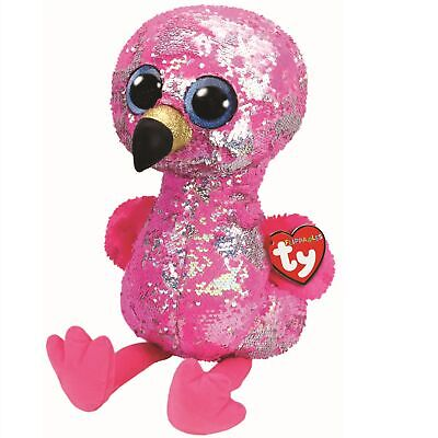 Ty Beanie Flippables 36763 Pinky The Pink Flamingo Sequin Flippable Large • 32.73£