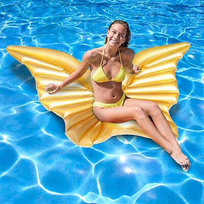 Inflatable Butterfly Float Giant Angel Wings Lounger Swimming Pool Beach Lilo • 9.99£