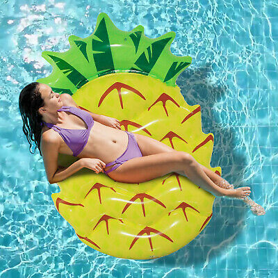 Inflatable Pineapple Giant Pool Float Beach Fun Swimming Water Lounger Party Mat • 8.99£