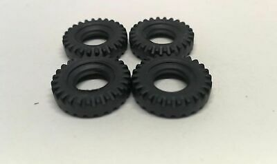 Matchbox King Size 18mm Treaded Replacement Tyres X4 DD36/1 • 2.10£