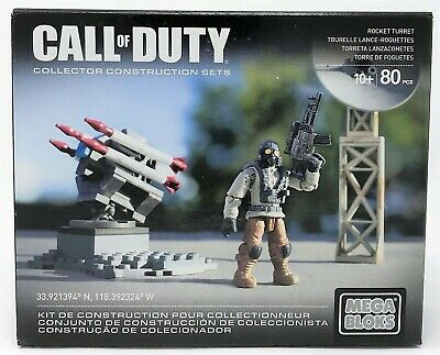 Mega Bloks Call Of Duty Rocket Turret Buildable Collector Set Toy • 10.99£