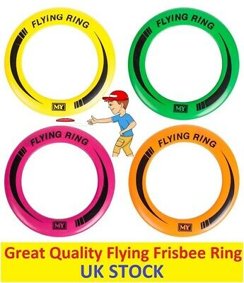 2x Frisbee Flying Ring Professional Summer Outdoor Fun Kids Pets Dog Beach Park • 3.59£