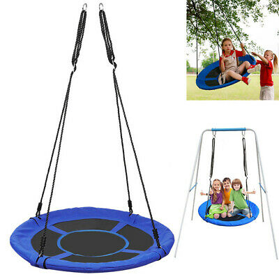 40'' Children Hanging Rope Round Nest Tree Swing Seat Kids Outdoor Garden Toys • 41.95£