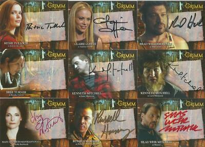 Grimm Season 1 Auto Autograph Trading Card Selection From Breygent • 34.95£