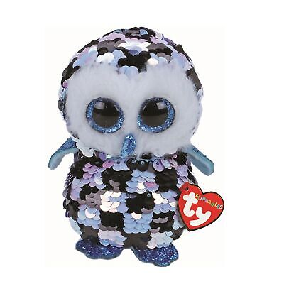 Ty Beanie Flippables 36348 Topper The Owl Sequin Flippable Regular • 9.95£