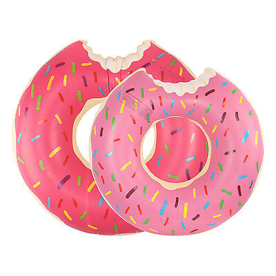 Kids Adult Inflatable Donut Rubber Ring Pool Float Lilo Toys Doughnut Dohnut • 4.79£