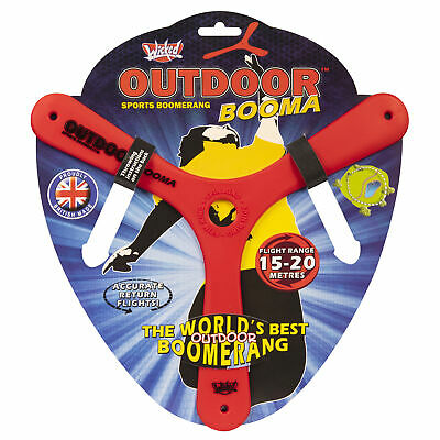 Wicked Outdoor RED Booma Boomerang Beach Toy Fun Game Birthday Gift • 8.35£