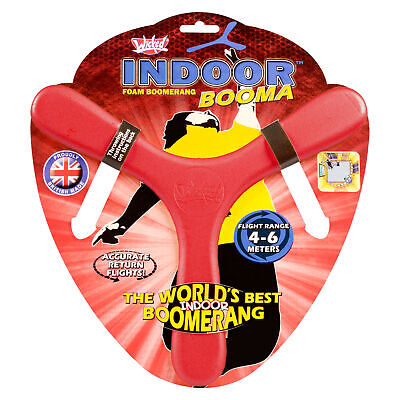 Wicked Indoor RED Booma Boomerang Outdoor Toy Fun Game Birthday Gift • 7.79£