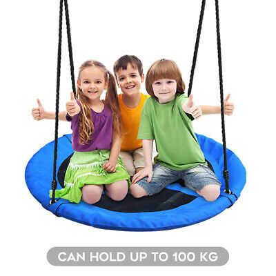 100 Cm Kids Giant Outdoor Garden Nest Rope Swing Seat Tree Fun Toy Thick Fabric • 41.99£