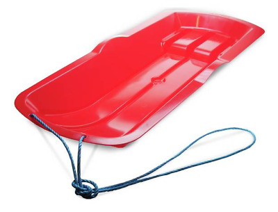 Alpha Snow Sledge Plastic Toboggan With Pull Rope For Kids & Children RED • 13.49£