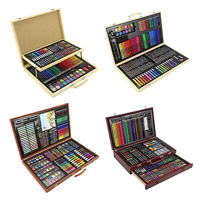 Creative Professional Wooden Art Artists Case Sets Stationary Colouring Drawing • 19.95£