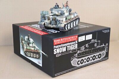KING & COUNTRY WSS177SL WWII GERMAN FORCES SNOW TIGER TANK BOXED Nv • 379.50£