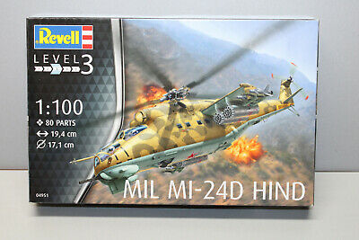 Revell 04951 Mil MI-24D Hind 1:100 Boxed • 9.36£