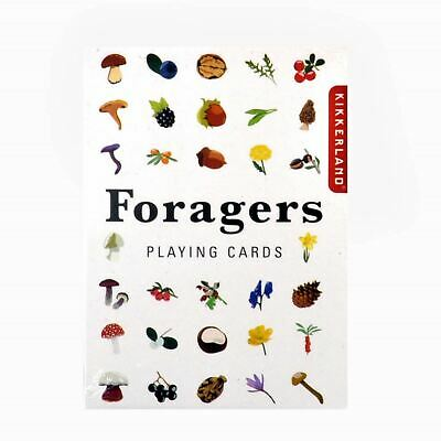 Kikkerland Foragers Playing Cards Foraging Nature Plants Lover Collectable Gift • 8.99£