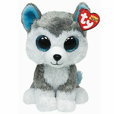 Ty Beanie Boos 36006 Slush The Grey And White Husky Dog Boo Regular • 7.50£