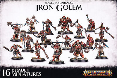 Warhammer Age Of Sigmar Slaves To Darkness Iron Golem Singles • 12.33£