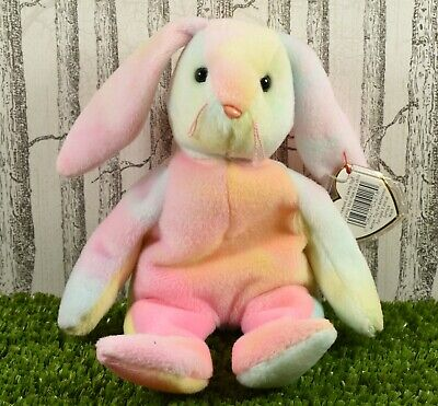Ty Retired Beanie Baby Hippie ~ Rabbit ~ VGC With Tags ©1999 • 6.99£