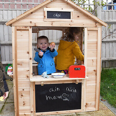 Big Game Hunters Café Shop Wooden Playhouse - Play Market Stall For Children • 171£