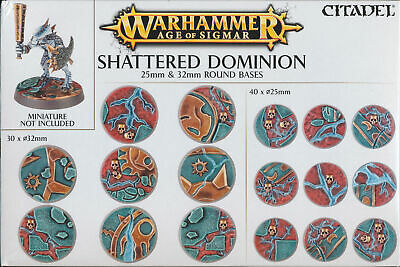 Warhammer Age Of Sigmar Shattered Dominion 25mm & 32mm Bases / Sprues • 8.21£