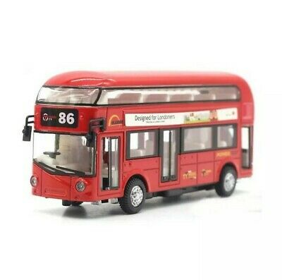 Red London Bus Model Car Toy Children For Kids With Light Sound Gift Souvenir • 11.99£