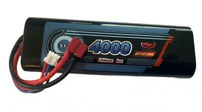 Rechargeable Battery 7.4V 4000mAh  LiPo Pack Vapextech Rounded Hard Case Deans • 20.95£