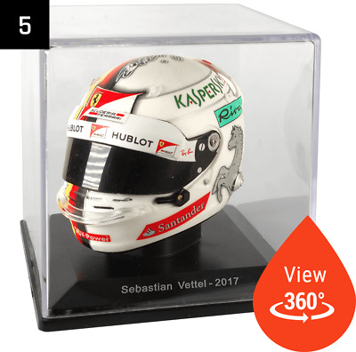 Sebastien Vettel 2017 1/5 Scale Model F1 Drivers Helmet Spark Editions Low Price • 14.99£