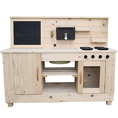Triple Mud Kitchen With Working Tap And Hose Connection - Kid's Outdoor Kitchen • 159£