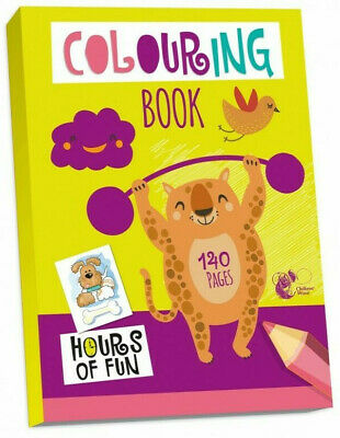 JUMBO 140 Page A4 COLOURING BOOK - KIDS BORED CHILDREN HOME OFF SCHOOL ISOLATE • 3.45£