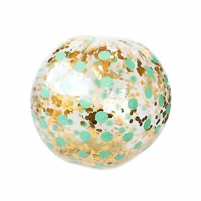 Giant Glitter Supersized Sparkly Beach Ball Inflatable 65cm Pool Festival Party • 15.99£