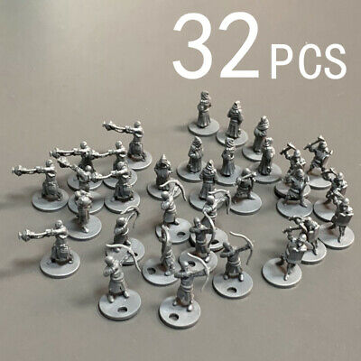 Lot 32PCS Dungeons & Dragons DND Role Playing Miniatures Board Game Figures Set • 10.99£