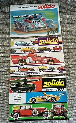 Solido Diecast Catalogues X 3 (1975, 1976, 1977) • 11£