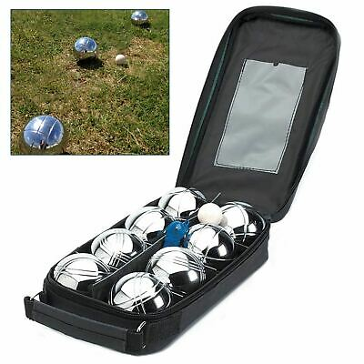 8 French Ball Stainless Steel Boules Set Petanque Outdoor Carry Case Garden Game • 19.90£