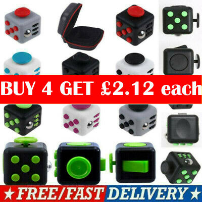 Fidget Cube Spinner Toy Children Desk Adults Stress Pressure Relief Cubes CFUK • 4.95£