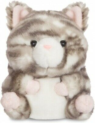 Aurora Worl Rolly Pets Grey Kitten Plush • 7£