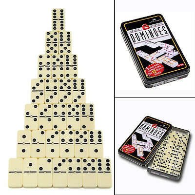 Dominoes 28 Piece Dominoes Set In A Handy Tin Classic Family Games New • 5.59£