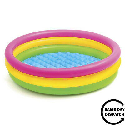 New Intex Childrens Kids Paddling Swimming Pool 114cm X 25cm Garden Play Pool • 13.89£