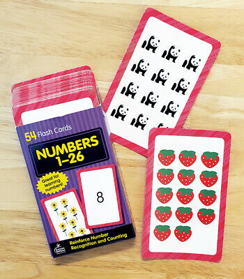 Numbers 1 To 26 Flash Cards - Great For Home Learning! • 8£