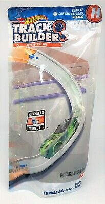 Hot Wheels Track Builder System Turn It Curve Curved Connect H Part Accessory • 9.99£