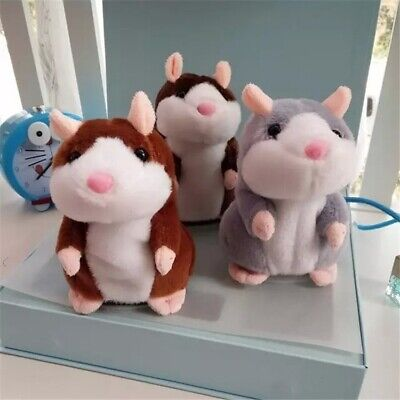 UK Talking Hamster Cute Nod Mouse Record Chat Mimicry Pet Plush Toy Xmas Gift • 8.49£