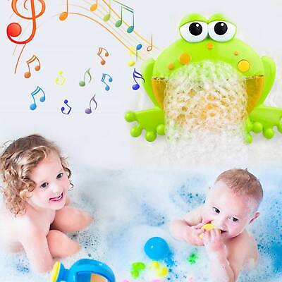 Kids Portable Bubble Machine Blower Birthday Party Toy Gift Frog Bubble Outdoor • 5.99£