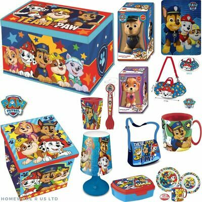 Kids Childrens Paw Patrol Toys Bedroom Toy Box Bag Lamp Cup Blanket Lunch Sets • 14.99£