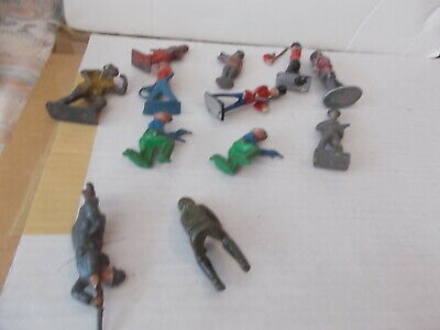Job Lot  6 Vintage Painted  Metal Standing Figures See Photos For Figures • 7.99£